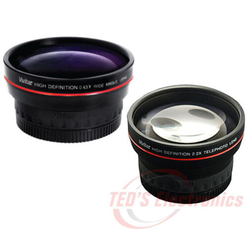 58mm Telephoto and Wide Angle Lens for SLR DIGITAL CAMERAS