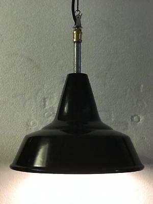 Lampada Ø 30 Design Industriale Huna Fontana Arte Orig. 1965 Inserti Steampunk