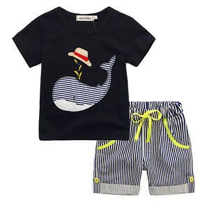 Clothing Sets Beach Shorts Sports Smart Baby Boys Clothes Set Summer Clothes T-shirt For Boy Children Clothing Sets For Boy Short Sleeve Shirts