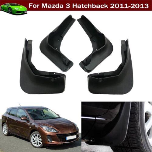 New 4 Car Mud Flap Splash Guard Fender Mudguard For Mazda 3 Hatchback 2011-2013