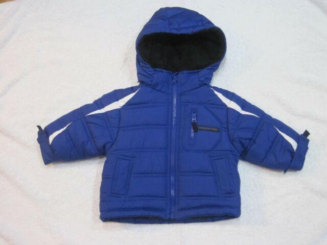Baby Boy S Size 12 Months Blue London Fog Hooded Fleece Lined Winter Puffer Coat For Sale Online Ebay