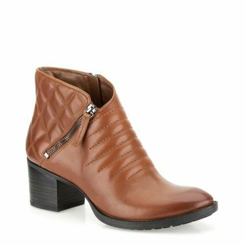 Clarks Movie Retro Dark Tan Cuir Femme Bottes Taille UK 7D