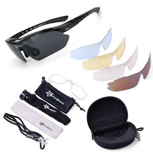 60de32e9015 Details about ROCKBROS Pro Polarized Cycling Glasses Bike MTB Sports  Sunglasses 5 Lens Goggles