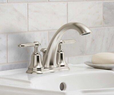 "Kohler Georgeson R99910-4D-BN 4/"" Brushed Nickel Centerset Bathroom Faucet New"