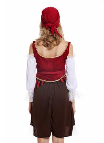 S W-0081 Kostüm Damen Frauen Karneval Piratin Piratenbraut Seeräuberin Gr