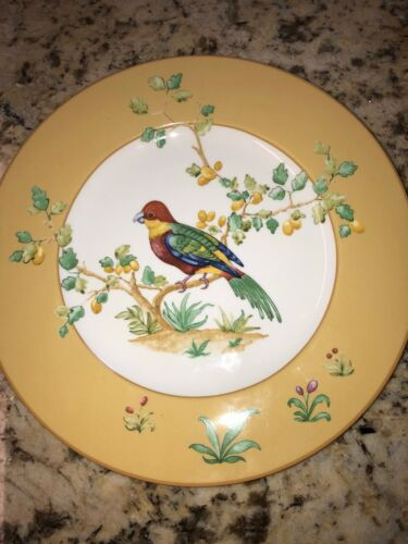 """Collectible Villeroy /& Boch Paradise Bird Luncheon Plate w//Exotic Bird 9.5/"""" dia"""