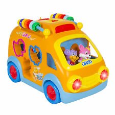 Toy Happy Educational School Bus Bump'n'Go, Music, Animal Sounds, Lights, G