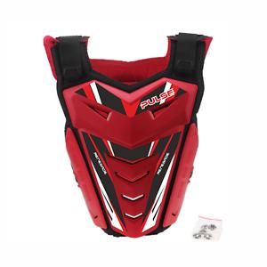 PULSE-RED-amp-BLACK-MOTOCROSS-MX-ENDURO-BMX-MTB-MOUNTAIN-BIKE-CHEST-PROTECTOR
