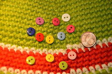 Mini bunte Plastik Knopf Knöpfe 0,8cm 8mm 20 Stück Eyecatcher