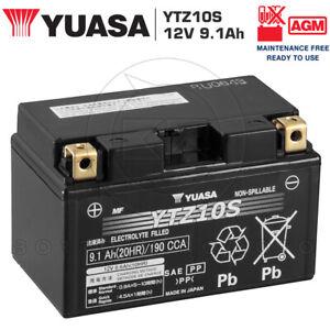 BATTERIA-YUASA-YTZ10S-12V-9AH-SIGILLATA-YAMAHA-YZF-R1-S-1000-2006-2007-2008