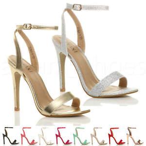 Donna-Alto-Tacco-Partito-Quasi-Li-Fibbia-Con-Cinturino-Sandali-Scarpe-Numero
