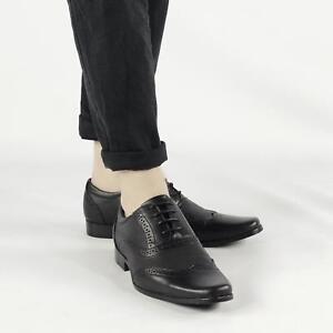 KENSINGTON-Homme-Cuir-Synthetique-Smart-Oxford-Richelieu-a-Lacets-Chaussures-Noir