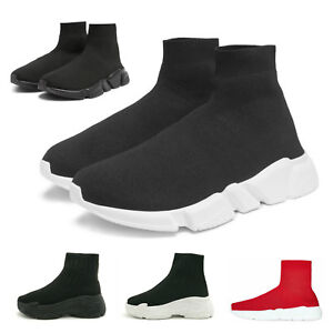 326bc18722327 New Womens Designer Style Knit Speed Sock Runner Ladies Trainers ...