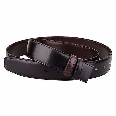 Reversible Black Brown leather belt Strap dupont Mens belts buckles Size 36