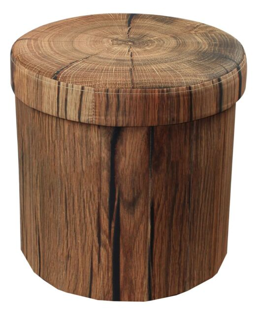 Excellent Sorbus Storage Ottoman Foldable Collapsible With Lid Cover Tree Stump Gmtry Best Dining Table And Chair Ideas Images Gmtryco