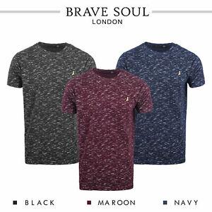 Brave-Soul-Mens-T-Shirt-Slub-Effect-Pattern-Design-Crew-Neck-Nigel