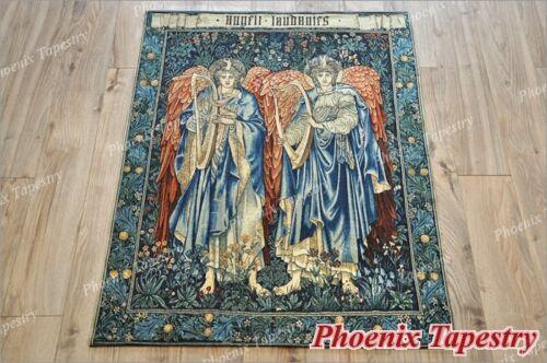 """103 x 139cm Gobelin Wandteppich Wandbehang /""""Angeli Laudantes/"""" Baumwolle 100/%"""