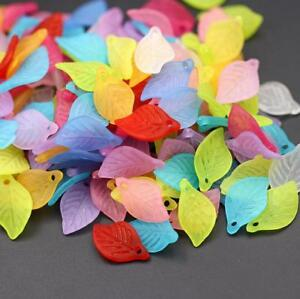 100pcs-Mixed-Flower-Frosted-Acrylic-Spacer-Beads-Caps-For-Jewelry-Making-18mm