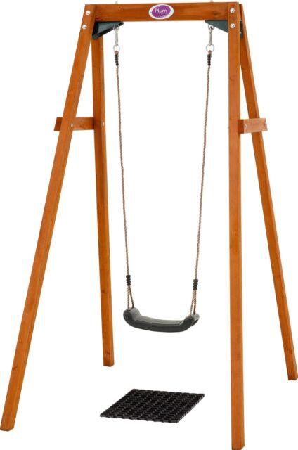 Plum Wooden Single Swing Set.
