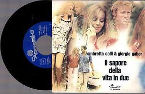 OMBRETTA-COLLI-amp-GIORGIO-GABER-IL-SAPORE-1970-7-034-45-GIRI
