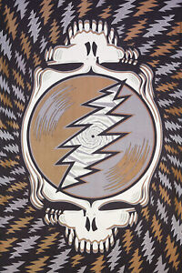 GRATEFUL DEAD-MULTI Steal Your Face-SYF TAPESTRY-52X80-Wallhanging LOOPS-Garcia