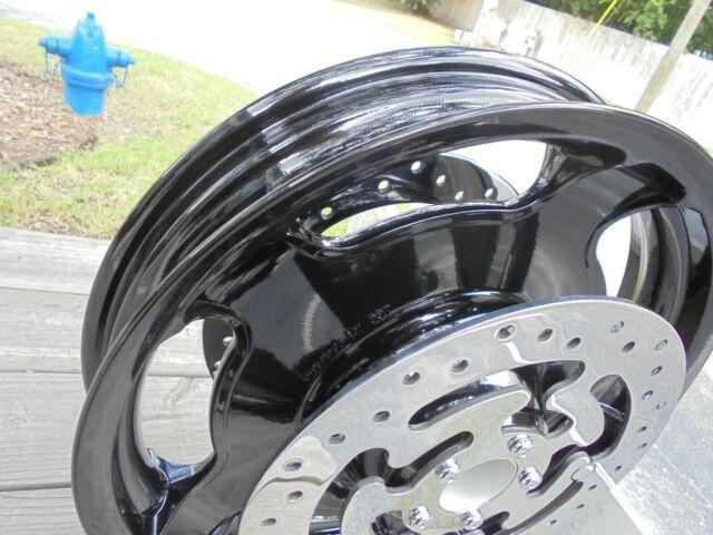 Harley-Davidson OEM Touring Front Wheel 17x3 GLOSS BLACK POLISHED ROTORS/BOLTS