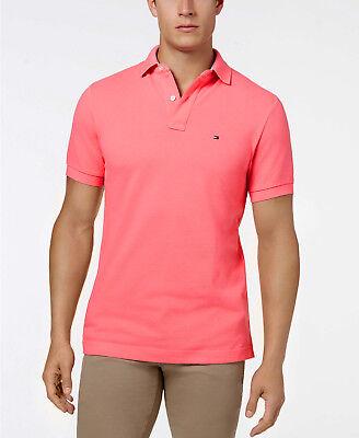 Tommy Hilfiger Men's Preppy Pink Custom Fit Short Sleeve Polo Shirt | eBay