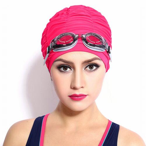 Swimming Caps for Long Hair Swim Cap Bathing Hats Lycra Beanie for Adults Women