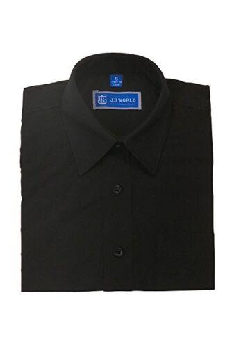 Boys Dress Shirt Long Sleeve Solid School Uniform Size 4-20 Formal Wedding New