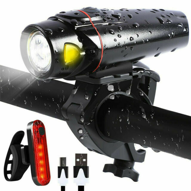 BG/_ USB Rechargeable LED Bicycle Cycling MTB Bike Rear Tail Light Lamp Taillight