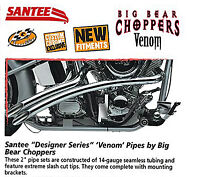 Santee Venom Exhaust Harley Softail Fls Slim Flstb Cross Bones 2012-2014