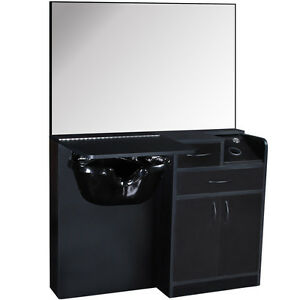 Salon equipment wet styling station with cabinet abs for Salon equipment prices