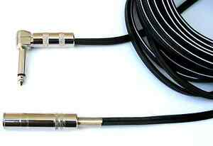 """Female to Male Right-Angle Mono Audio Extension Cable 6.3mm 3ft Premium** 1//4/"""""""
