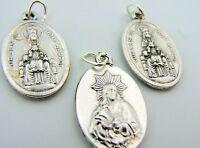 Virgin Of Montserrat Mary & Infant Jesus Double Sided Christ Pendant Lot 3 Medal