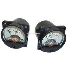 2pc Panel Vu Meter Warm Back Light Recording&Audio Level Amp 500ua 630ohm Analog