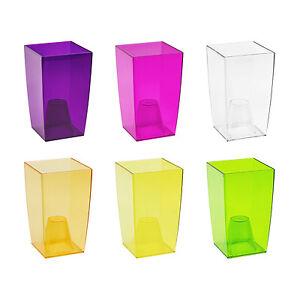 orchideentopf blumentopf quadratisch bertopf 6 farben transparent w hlbar top ebay. Black Bedroom Furniture Sets. Home Design Ideas
