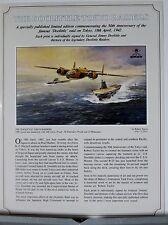 The Doolittle Tokyo Raiders B-25 USS Hornet Robert Taylor Aviation Art Flyer