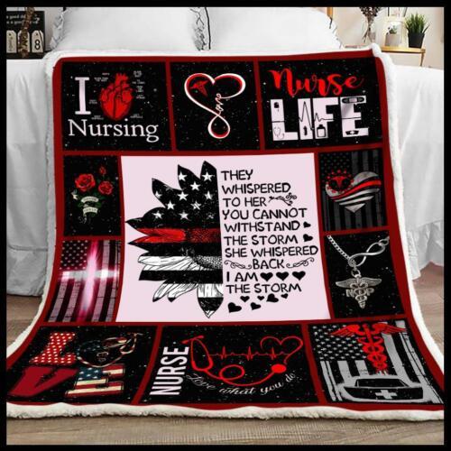 Nurse They Whisper Sofa Fleece Blanket 50-80