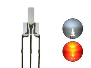 S727-10-Stueck-DUO-Tower-LEDs-2mm-Bi-Color-weiss-rot-Lichtwechsel-Loks-DIGITAL