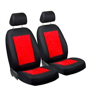 rouge brillant velours housses de si ge pour citroen c1 voiture devant ebay. Black Bedroom Furniture Sets. Home Design Ideas