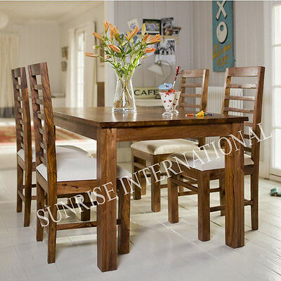 Harley 5pc Wooden Dining Set ( 5ft Table + 4 chairs )
