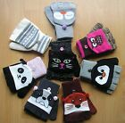 CUTE NOVELTY PANDA CAT OWL DOG Multi Way Fingerless Gloves Mittens Primark BNWT