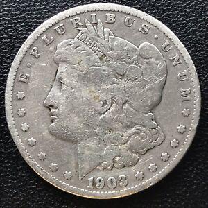 USA-1903-S-Morgan-Dollar-Silber-San-Francisco-Selten-16917