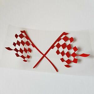 Rouge-Damier-Drapeau-Autocollant-Vinyle-pour-Nissan-Qashqai-2-Juke-Micra-Lame