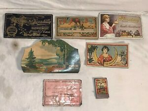 Lot-vtg-antique-sewing-needle-ENVELOPE-BOOKS-Piccadilly-ARMY-NAVY-WWI-Crescent