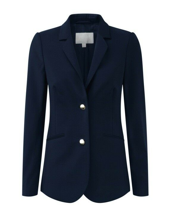 BNWT Pure Collection Wool Blazer in Navy - UK Size 10 RRP