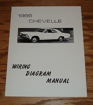 1966 Chevrolet Chevelle Wiring Diagram Manual 66 Chevy | eBay