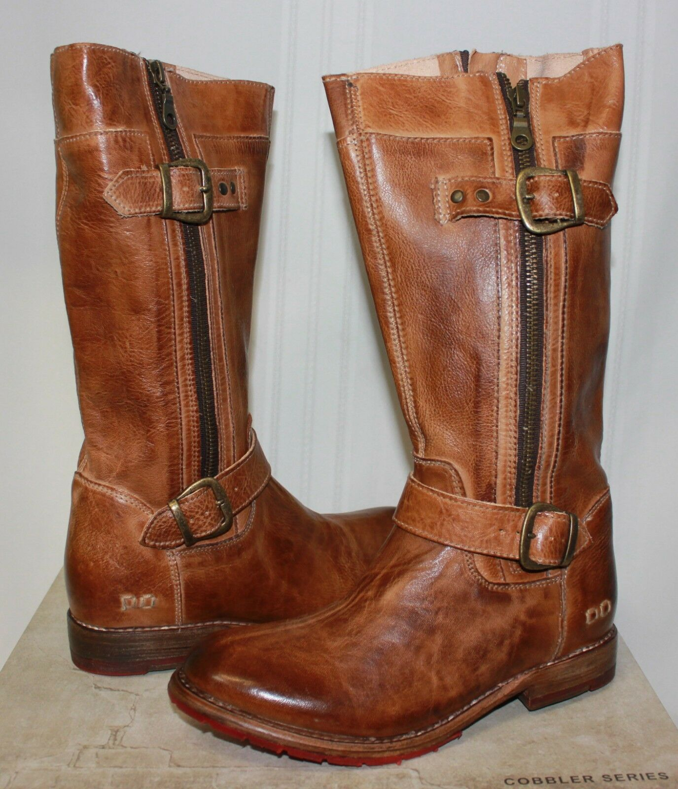 Bed Stu Women's GoGo Tan Rustic Leather boots New With Box
