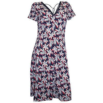 Ashley Brooke Druckkleid 34 bis 46 marine weiß Blumen Kleid kurzarm neu