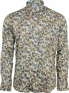 Mod Manche Cachemire Skin Longue Multi Hommes Bouton Ann Chemise Relco pqg40xC